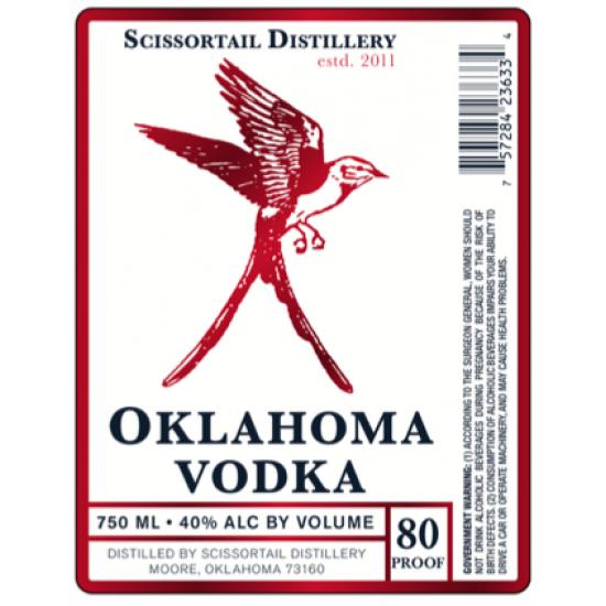 Scissortail Oklahoma Vodka