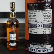 Duncan Taylor Dimensions Beldorney Single Malt Scotch Whiskey - 21 Year