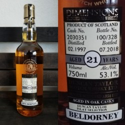 Duncan Taylor Dimensions Beldorney Single Malt Scotch Whiskey - 21 Year